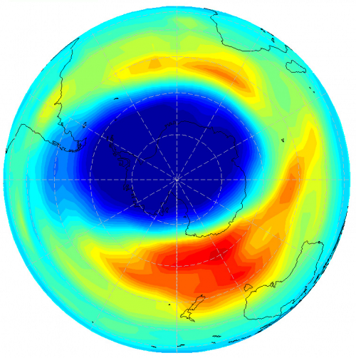 Antarctic ozone hole 2003