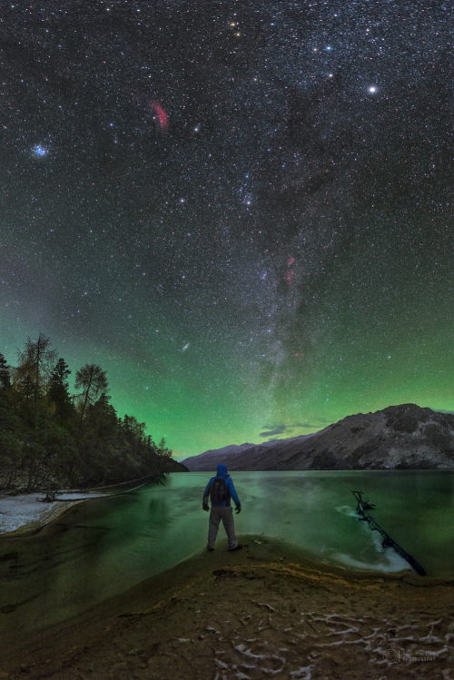 "Nightly airglow or ""nightglow"""