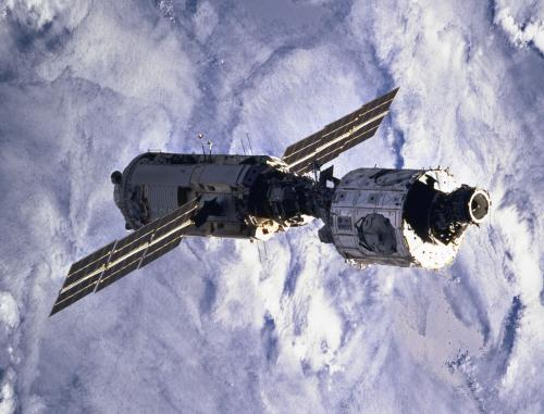 The first two modules of the ISS
