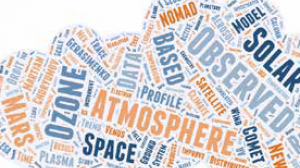 Word cloud atmosphere space observed solar ozone mars